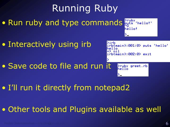 Running Ruby