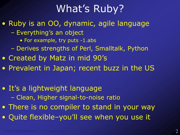 What s ruby