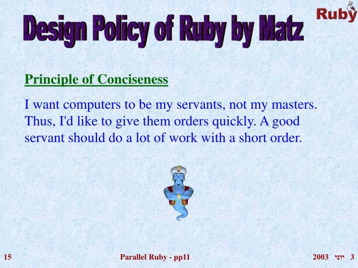 Principle of Conciseness