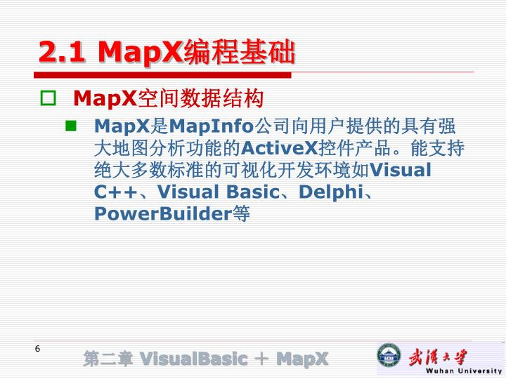 2.1 MapX