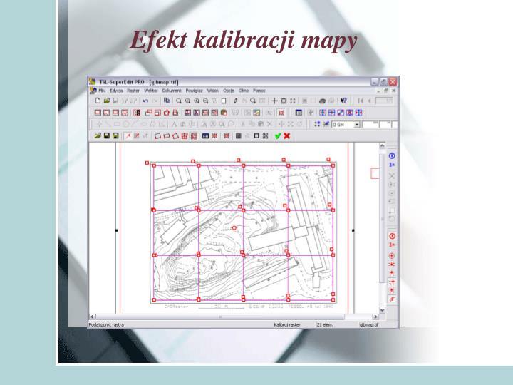 Efekt kalibracji mapy