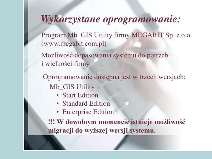 Wykorzystane oprogramowanie: