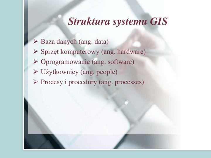 Struktura systemu GIS
