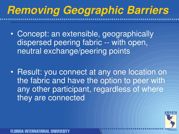 Removing Geographic Barriers