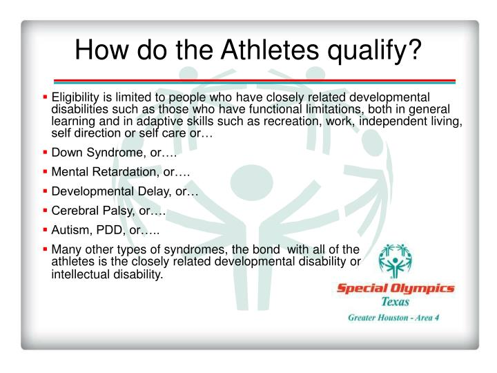 How do the Athletes qualify?
