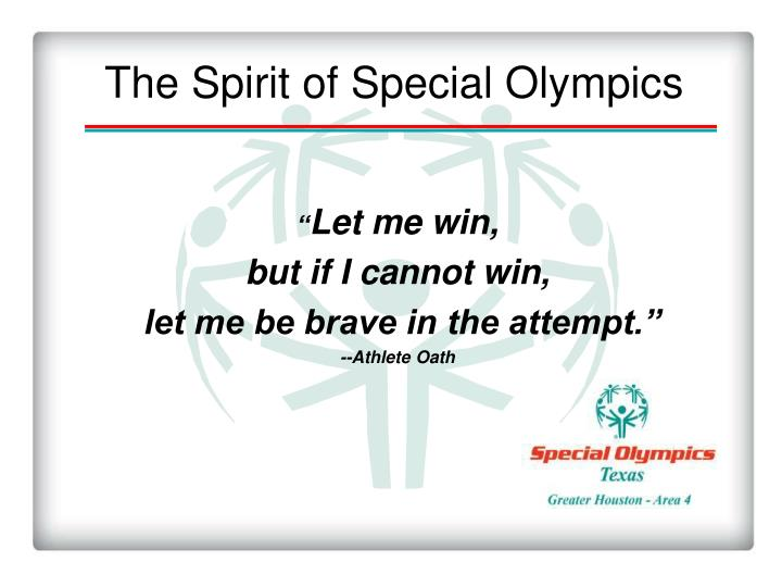 The spirit of special olympics