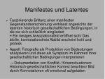 manifestes und latentes