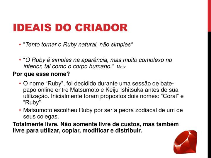 Ideais do criador