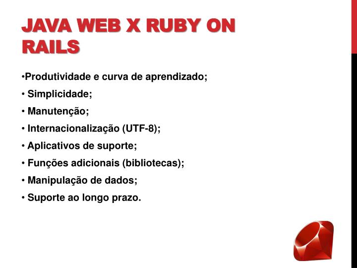 Java Web x Ruby