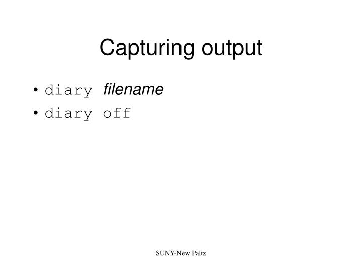 Capturing output