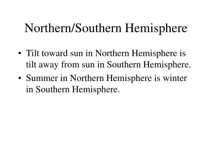 Northern/Southern Hemisphere