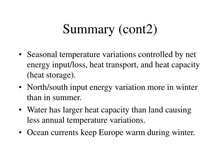 Summary (cont2)