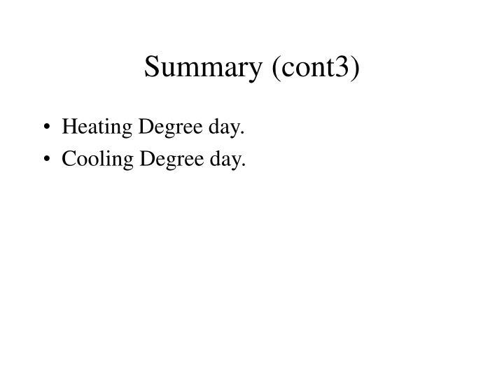 Summary (cont3)