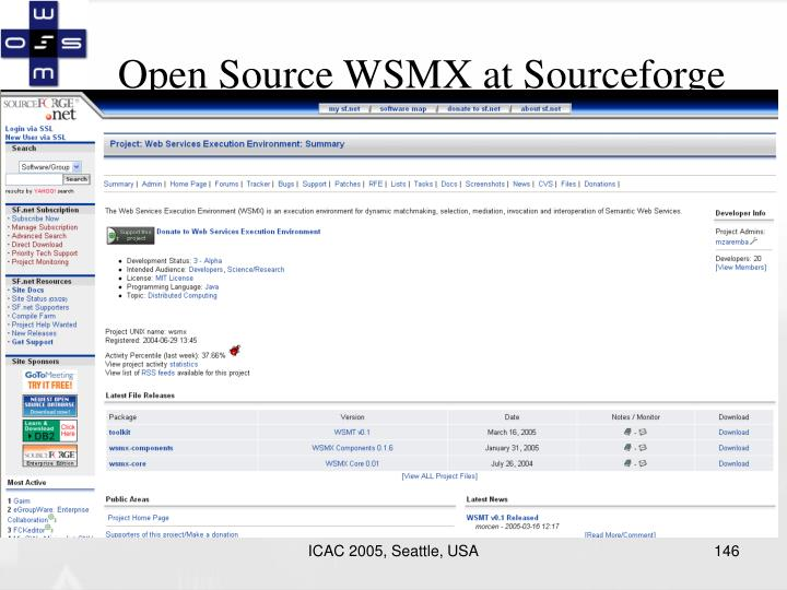 Open Source WSMX at Sourceforge