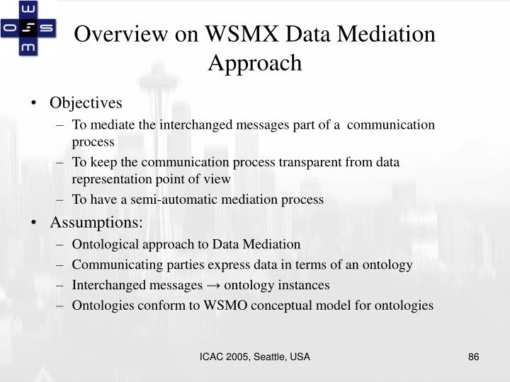 Overview on WSMX Data Mediation Approach