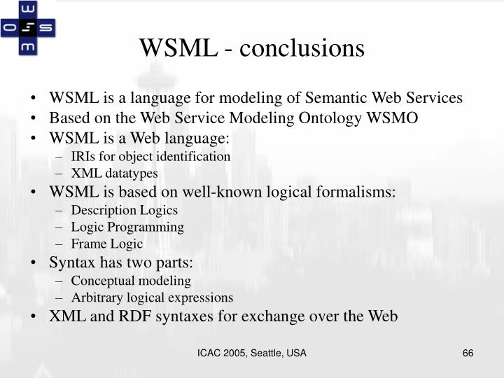 WSML - conclusions