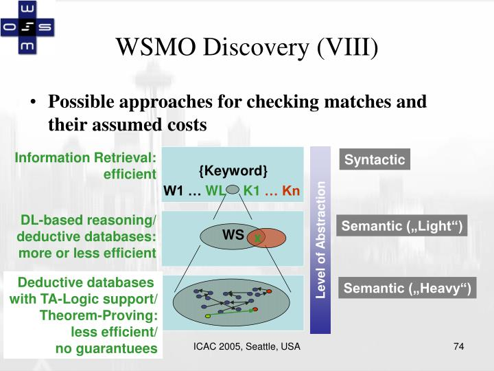 WSMO Discovery (VIII)