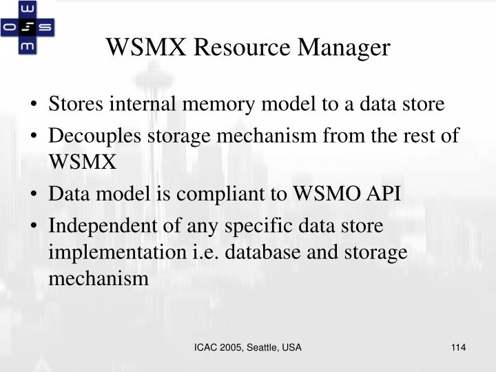 WSMX Resource Manager