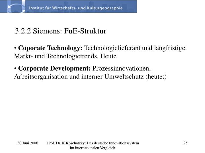 3.2.2 Siemens: FuE-Struktur