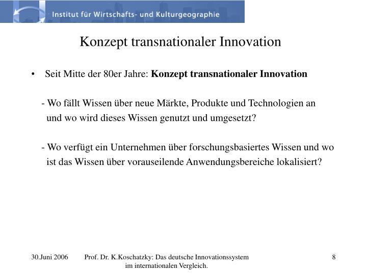 Konzept transnationaler Innovation