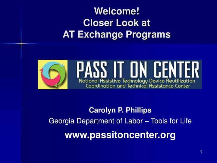 Welcome closer look at at exchange programs