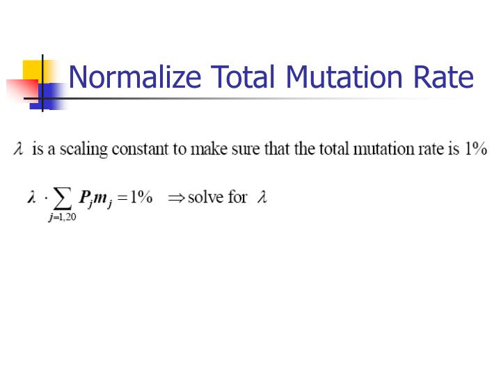 Normalize Total Mutation Rate