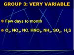 group 3 very variable