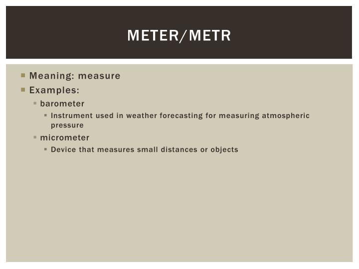 Meter/