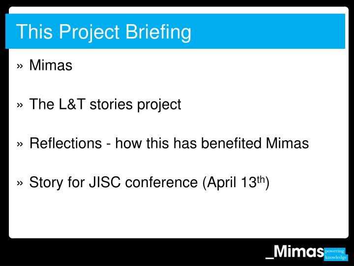 This project briefing