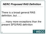 nerc proposed ras definition