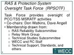 ras protection system oversight task force rpsotf