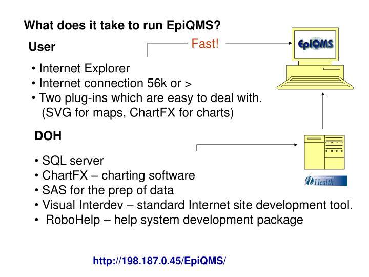 What does it take to run EpiQMS?
