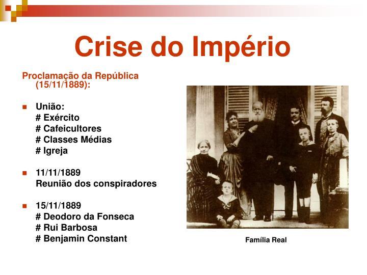 Proclamação da República (15/11/1889):