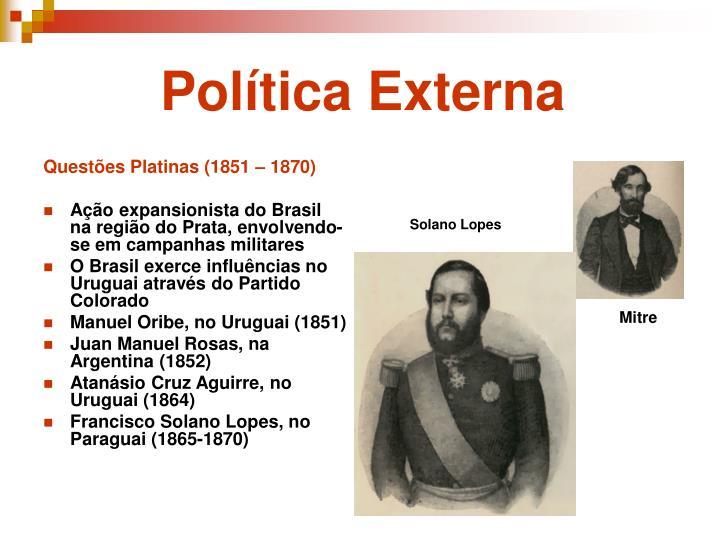 Questões Platinas (1851 – 1870)