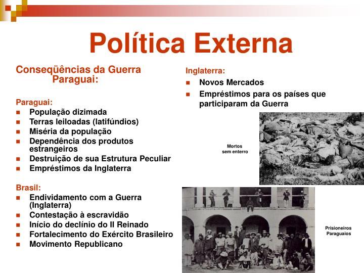 Conseqüências da Guerra Paraguai: