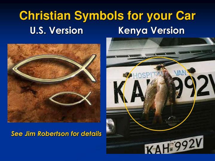 Christian Symbols for your Car