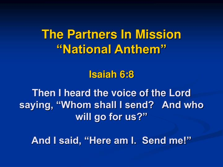 The Partners In Mission