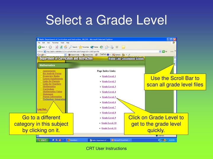 Select a Grade Level