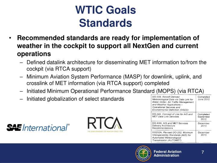 WTIC Goals