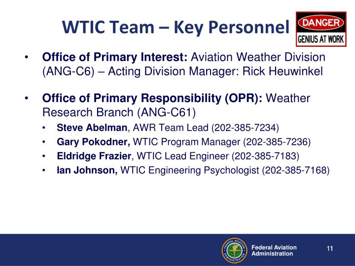 WTIC Team – Key Personnel