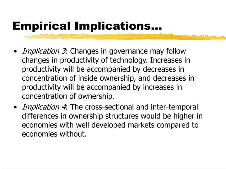 Empirical Implications...