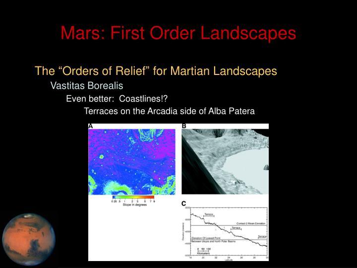 Mars: First Order Landscapes