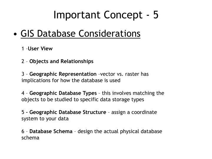 Important Concept - 5