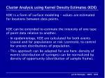 cluster analysis using kernel density estimates kde