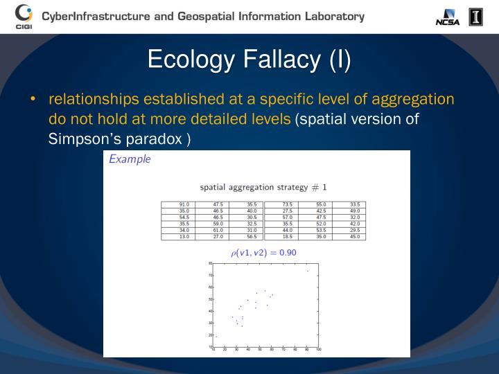 Ecology Fallacy (I)