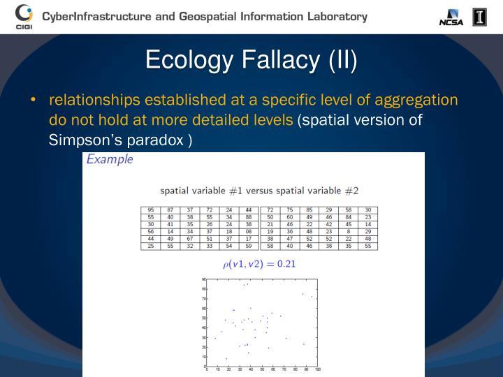 Ecology Fallacy (II)