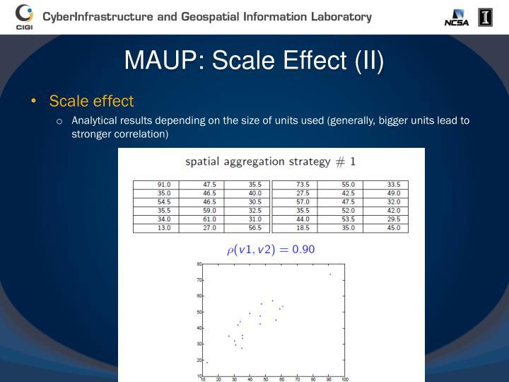 MAUP: Scale Effect (II)