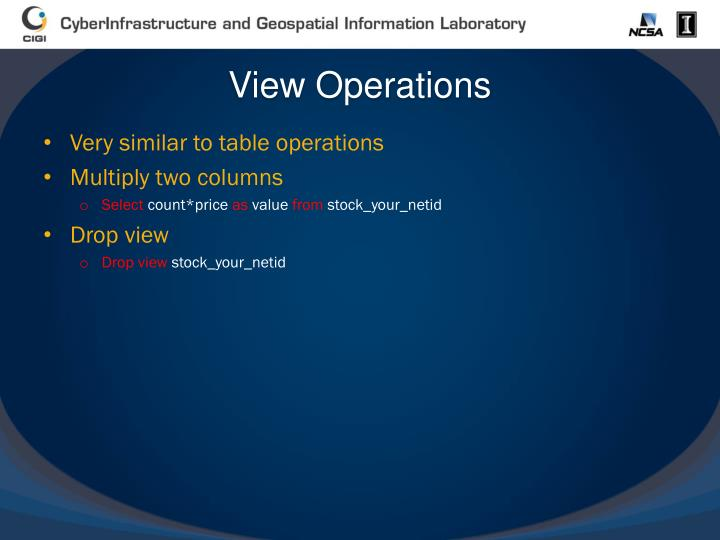 View Operations
