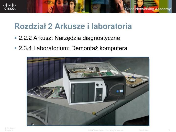 Rozdzia 2 arkusze i laboratoria