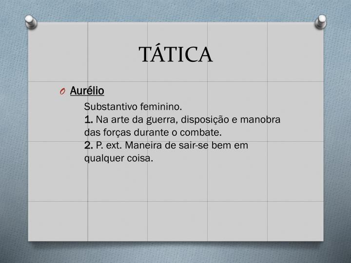 TÁTICA